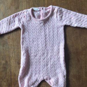 Pink cotton onesie